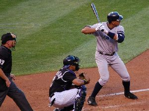 Athlete Baseball player Alex Rodriguez pictures ready to hit in June 19, 2007