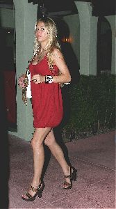 Sexy Anna Kournikova Cleavage picture/pic wearing a red dress