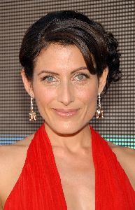 Lisa Edelstein pictures/pics at the 59th Emmy Awards