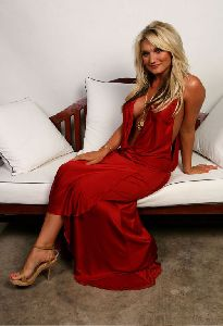 Sexy Brooke Hogan red dress pictures