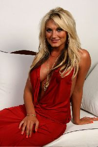 Sexy Brooke Hogan breasts red dress pictures