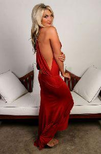 Sexy Brooke Hogan red dress pics