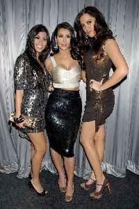 Sexy Kim and Kourtney Kardashian at the Movieline's Hollywood Life Style Awards in West Hollywood California on October 7th, 2007