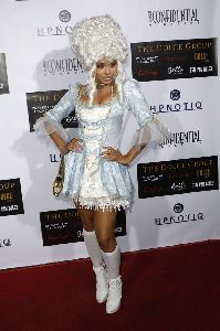 Christina Milian pictures at the Hypnotiq Halloween party