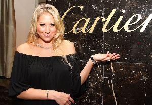 Anna Kournikova black dress pictures at a Cartier event