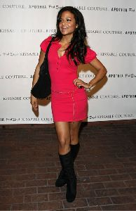 Christina Milian red dress pictures