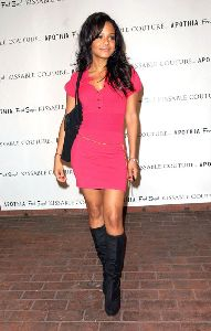 Christina Milian red dress picture