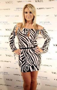 Sexy Brooke Hogan zibra dress pictures