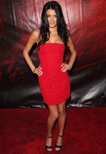 Sexy Sandra Nilsson red dress pictures at the premiere of National Treasure: Book of Secrets in New