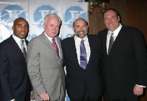 James Gandolfini : Tiki Barber- Joe DiMaggio Award Gala0