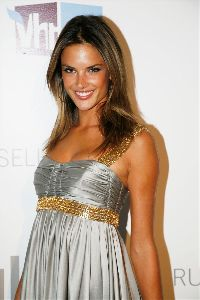 Alessandra Ambrosio silver dress pictures at VS Phi Beta PINK Party