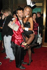 Alessandra Ambrosia pictures dressed up as a Playboy Bunny at a Halloween party on November 5th, 2007