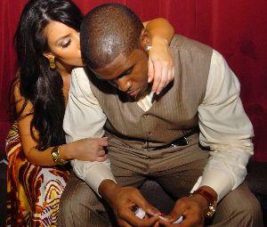 Kim Kardashian and Reggie Bush at Bring In The New Year celebration on December 31st 2007