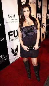 Kim Kardashian at the Freedom United Fashion Show on September 28th, 2007