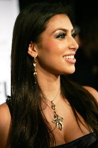 Kim Kardashian at the Freedom United Fashion Show on September 28th, 2007