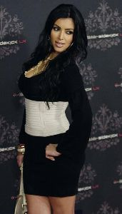 Kim Kardashian at a Mobile Phone Sidekick LX Party on October 18th 2007