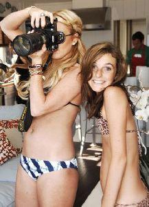 Ali Lohan and sister Lindsay Lohan