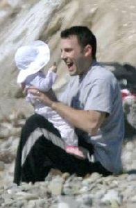 Ben Affleck playing with his baby daughter violet