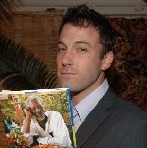 Ben Affleck reading a magazine