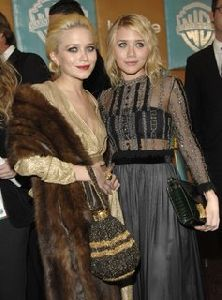 Mary Kate Olsen and Ashley Oslen at the InStyle Warners Bros Golden Globe After Party