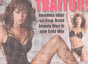 Olga Kurylenko : Daily Star November 2008