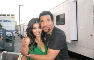 kim kardashian and Lionel Richie from dancing with the stars on November 7th 2008
