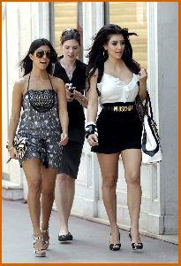 Kim Kardashian and kourtney Walking The Streets Of Monaco on June 12th 2008