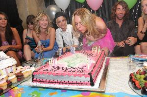 Lindsay Lohan birthday party with samantha Ronson on July 2nd 2008