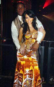 Kim Kardashian and Reggie Bush Bring In The New Year celebration on December 31st 2007