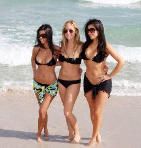 Kim Kardashian and Kourtney with Kristin Cavallari