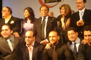 Adel Emam : the cast of Morgan ahmad Morgan movie, Adel Imam, Ahmed Mekki and Mervat Ameen