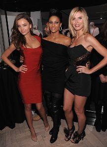 Ciara with Miranda Kerr and Heidi Klum