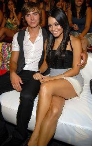 Zac Efron : Zac Efron and Vanessa Anne Hudgens in the audience during the 2008 Teen Choice Awards in Los Angeles, California
