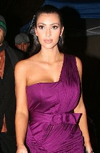 latest picture of Kim Kardashian attends a Dancing with the Stars after party in Hollywood on November 25th 2008