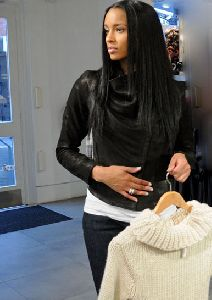 Ciara : shopping at a French Connection clothing store on December 11, 2008 in New York City
