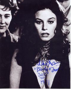 Lana Wood : black and white autographed poster