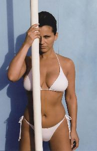 tatjana simic : wearing a white bikini