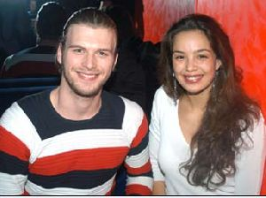 Azra Akin : together with her boyfriend Kivanc Tatlitug