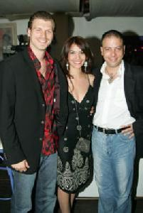 Songul Oden with her husband and her friend the turkish actor Kivanc Tatlitug.