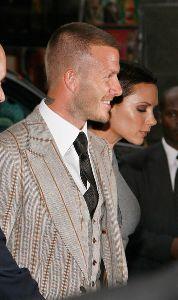 VICTORIA BECKHAM : with David Beckham Launch  Signature  in New York City
