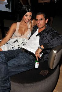 Kourtney Kardashian : with Scott Disick at -Rock The Vote- Hosted by Christina Aguilera held at the Esquire House Hollywood Hills on September 25, 2008
