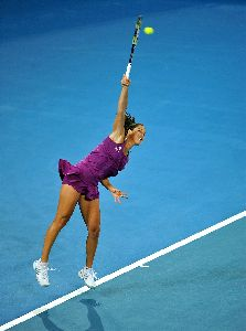 Ana Ivanovic jumping in the air