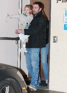 Ben Affleck picks up his daughter Violet from school