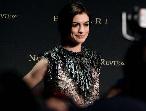 Anne Hathaway at the 2008 National Board of Review awards gala at Cipriani in New York City on Wednesday 14th January 2009