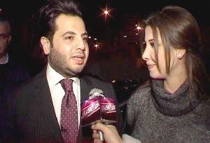 nancy ajram together with Nishan the TV representative