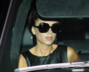 Victoria Beckham inside her car lands at LAX airport in Los Angeles, California on January 25th 2009