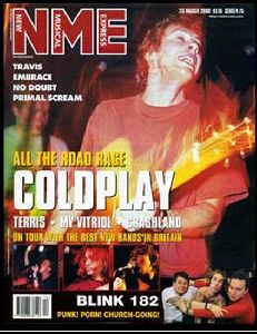 COLDPLAY : Chris Martin ON the cover OF NME