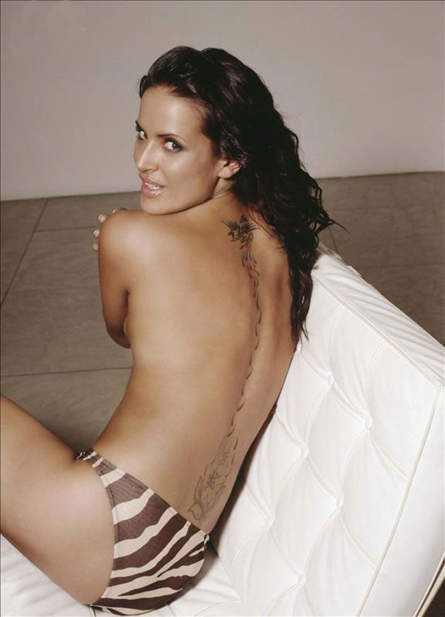 Sexy model Sophie Anderton back tattoo pictures - picture uploaded by
