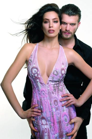 Azra Akin with endearing, mysterious, hautain, Boyfriend Kivanc Tatlitug