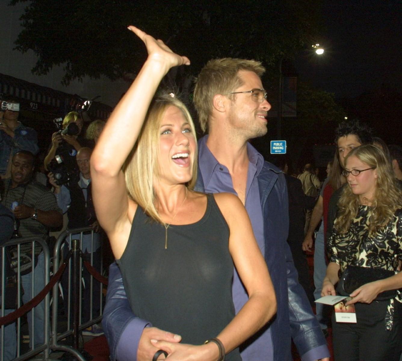 Jennifer Aniston See through Dress